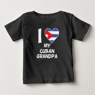 I coeur mon grand-papa cubain t-shirt pour bébé
