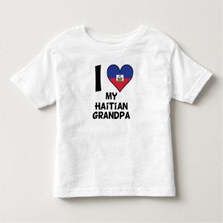 I coeur mon grand-papa haïtien t-shirt pour les tous petits