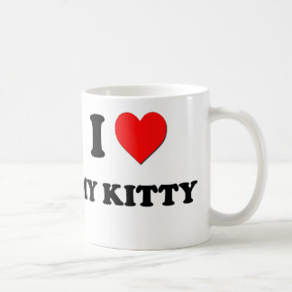 I coeur mon Kitty Mugs À Café
