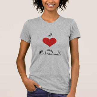 I coeur mon Labradoodle T-shirt