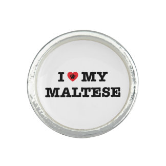 I coeur mon maltais bague avec photo