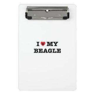 I coeur mon mini porte - bloc de beagle