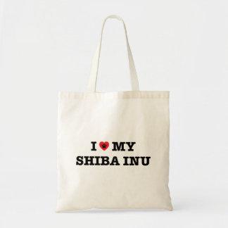 I coeur mon sac fourre-tout à Shiba Inu