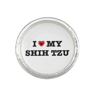 I coeur mon Shih Tzu Bagues