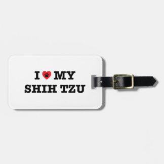 I coeur mon Shih Tzu Étiquette À Bagage