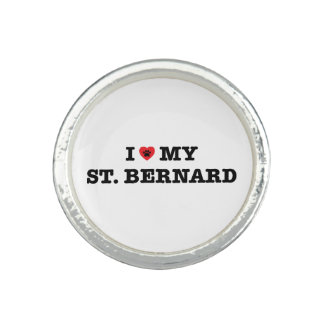 I coeur mon St Bernard Bagues