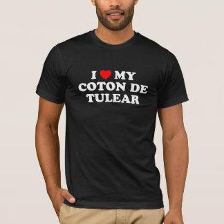 I coeur mon T-shirt de Tulear Dark de coton