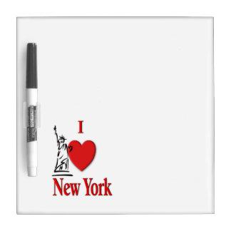 I coeur New York Tableau Effaçable À Sec
