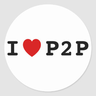 I coeur P2P Sticker Rond