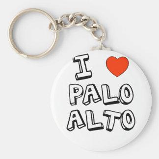 I coeur Palo Alto Porte-clé Rond