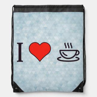 I coeur pour avoir le café sac à dos