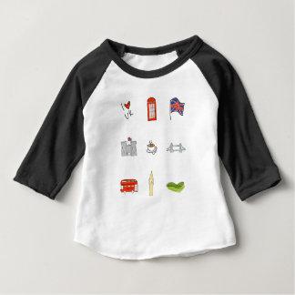 I coeur R-U, amour britannique, points de repère T-shirt Pour Bébé