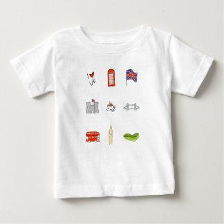 I coeur Royaume-Uni, amour britannique, points de T-shirt Pour Bébé
