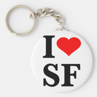 I coeur San Francisco Porte-clé Rond
