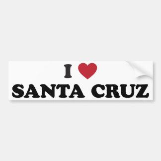 I coeur Santa Cruz Autocollant Pour Voiture