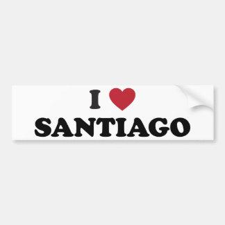 I coeur Santiago Chili Autocollant Pour Voiture