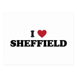 I coeur Sheffield Grande-Bretagne Carte Postale