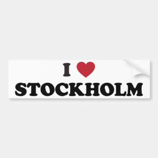 I coeur Stockholm Suède Autocollant De Voiture