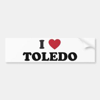 I coeur Toledo Ohio Autocollant De Voiture