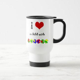 I coeur un enfant avec l'autisme tasse à café
