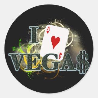 I coeur Vegas Sticker Rond