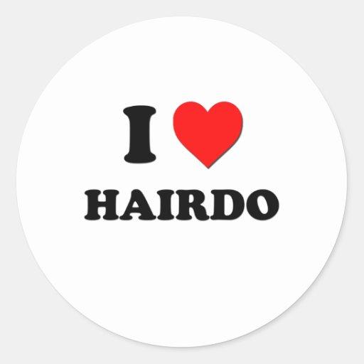 I coiffure de coeur autocollants