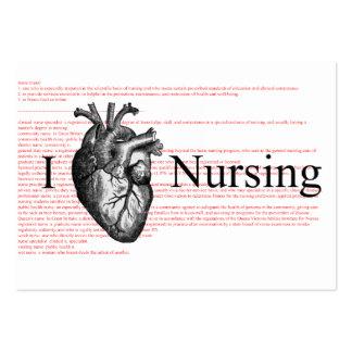 I définition de soins de coeur carte de visite grand format