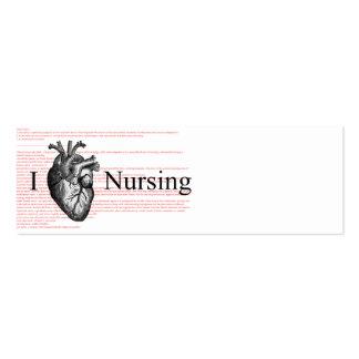 I définition de soins de coeur carte de visite petit format