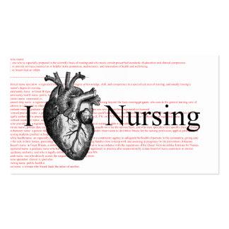 I définition de soins de coeur carte de visite standard