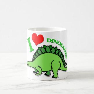 I dinosaures de coeur mug blanc