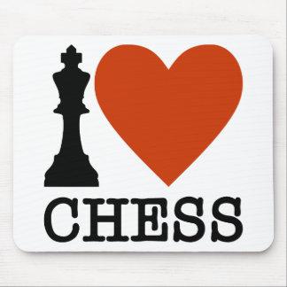 I échecs de coeur tapis de souris