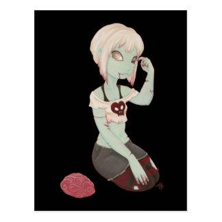 I fille de zombi de coeur - carte postale