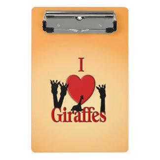 I girafes de coeur mini porte-bloc