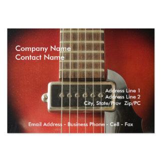 I guitares de coeur modèle de carte de visite