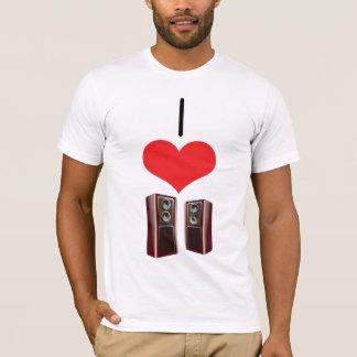 I haut-parleurs de coeur (amour) t-shirt