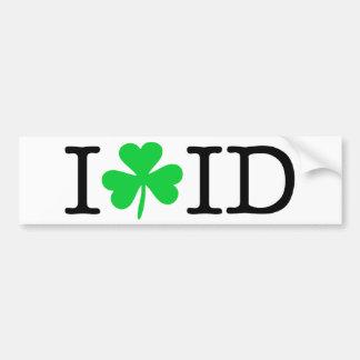 I identification de l'Idaho de shamrock (coeur Autocollant De Voiture