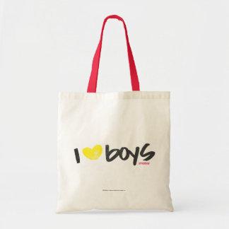 I jaune de garçons de coeur sac fourre-tout