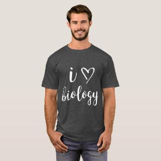 I la chemise foncée des hommes de biologie de t-shirt