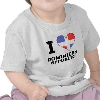I la République Dominicaine de coeur T-shirt