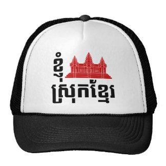 I langue de Khmer d'Angkor (coeur) Cambodge Casquettes De Camionneur