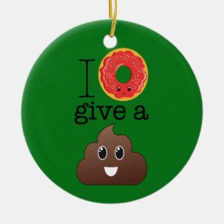 I le beignet donnent un ornement d'Emoji de vert