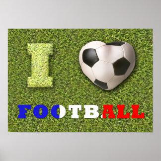 I le football France - affiche de coeur