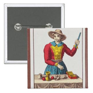 I le magicien, sept cartes de tarot badges