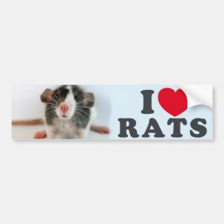 I love (blazed) Rats Autocollant De Voiture