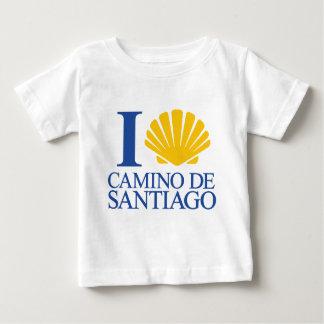 I Love Chemin Santiago T-shirt Pour Bébé