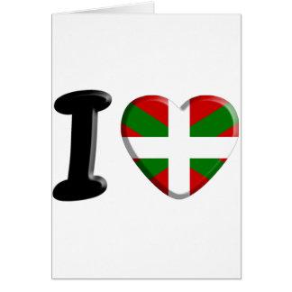 I love Pays Basque Cartes De Vœux