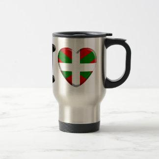 I love Pays Basque Mug De Voyage En Acier Inoxydable