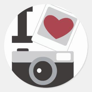 I Love Photo Sticker Rond