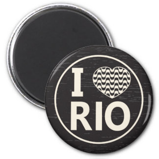 I love Rio Magnet Rond 8 Cm
