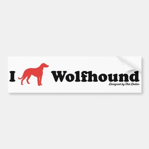 I love Wolfhound Adhésif Pour Voiture